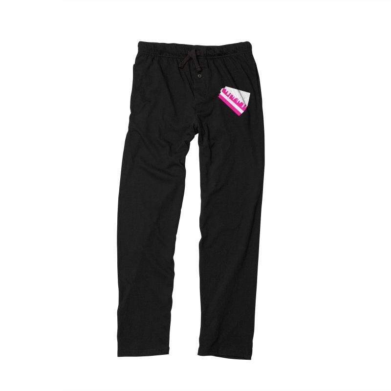 CAKE DRIP (Wht & Pnk) Men's Lounge Pants by More Cake?