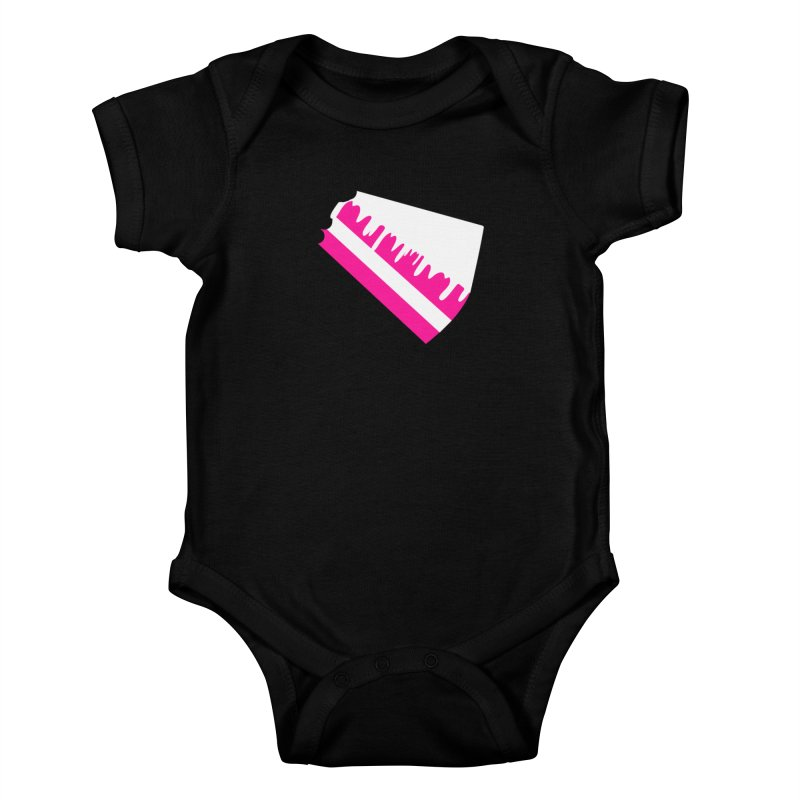 CAKE DRIP (Wht & Pnk) Kids Baby Bodysuit by More Cake?