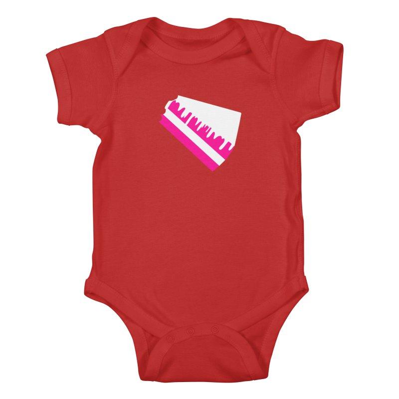 CAKE DRIP (Wht & Pnk) Kids Baby Bodysuit by More Cake?