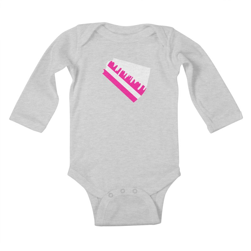 CAKE DRIP (Wht & Pnk) Kids Baby Longsleeve Bodysuit by More Cake?