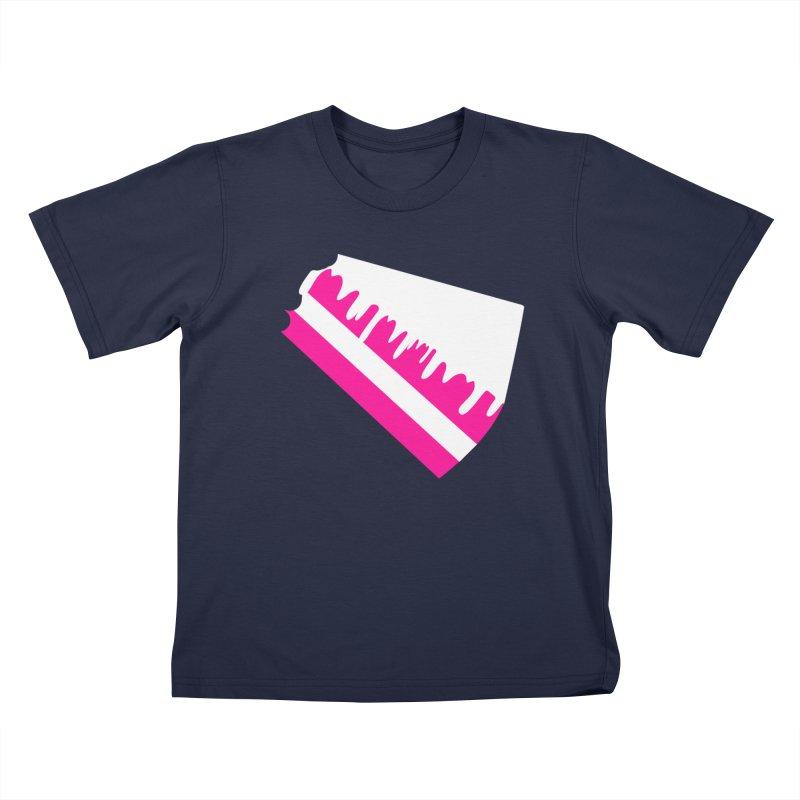 CAKE DRIP (Wht & Pnk) Kids Toddler T-Shirt by More Cake?