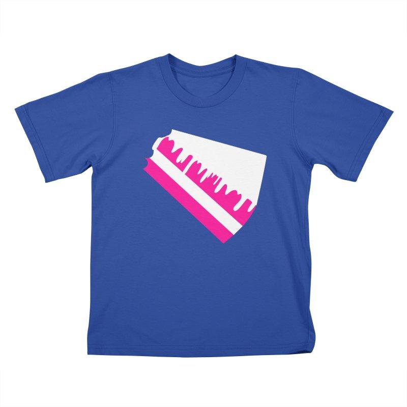 CAKE DRIP (Wht & Pnk) Kids T-Shirt by More Cake?