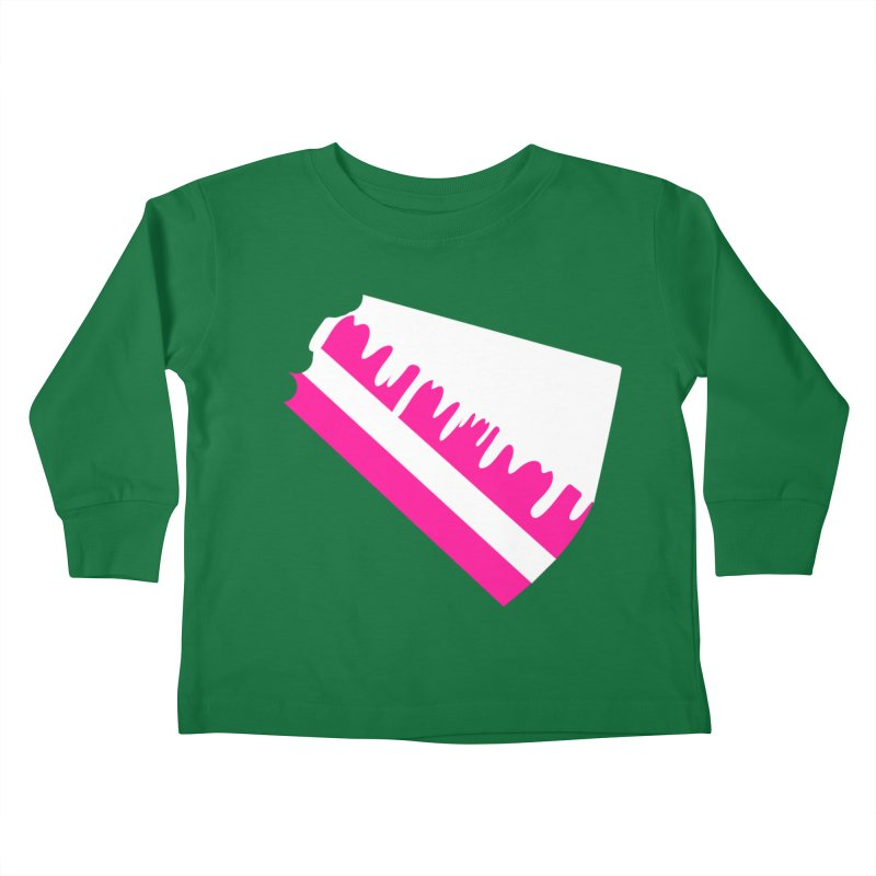 CAKE DRIP (Wht & Pnk) Kids Toddler Longsleeve T-Shirt by More Cake?