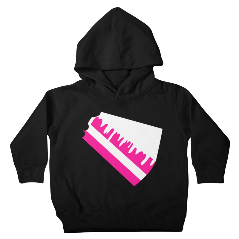 CAKE DRIP (Wht & Pnk) Kids Toddler Pullover Hoody by More Cake?