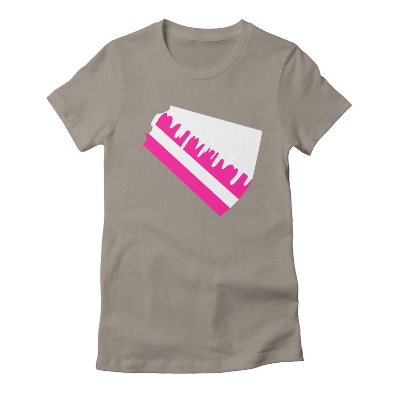CAKE DRIP (Wht & Pnk) Women's Fitted T-Shirt by More Cake?