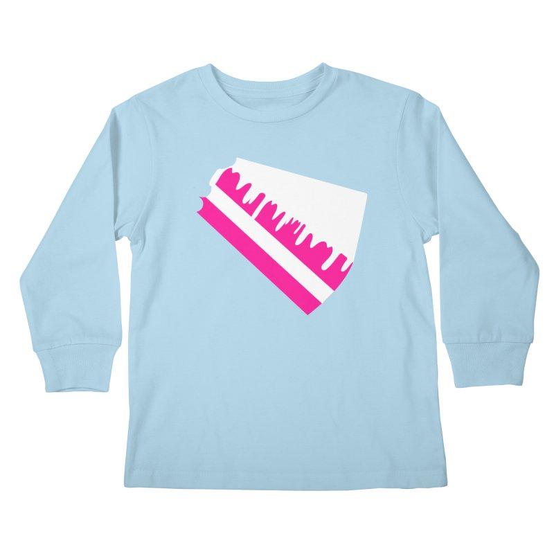 CAKE DRIP (Wht & Pnk) Kids Longsleeve T-Shirt by More Cake?
