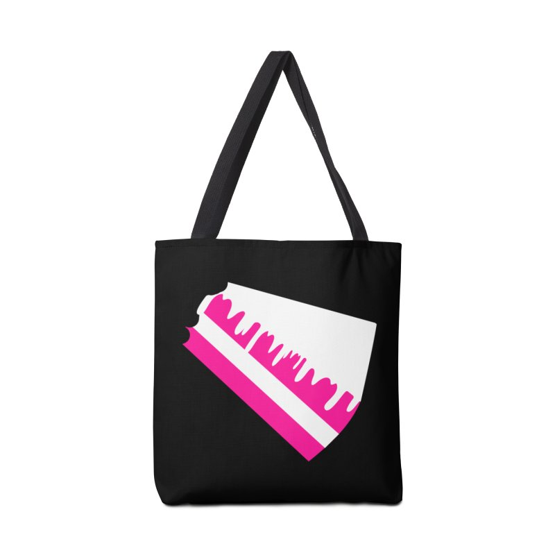 CAKE DRIP (Wht & Pnk) Accessories Tote Bag Bag by More Cake?