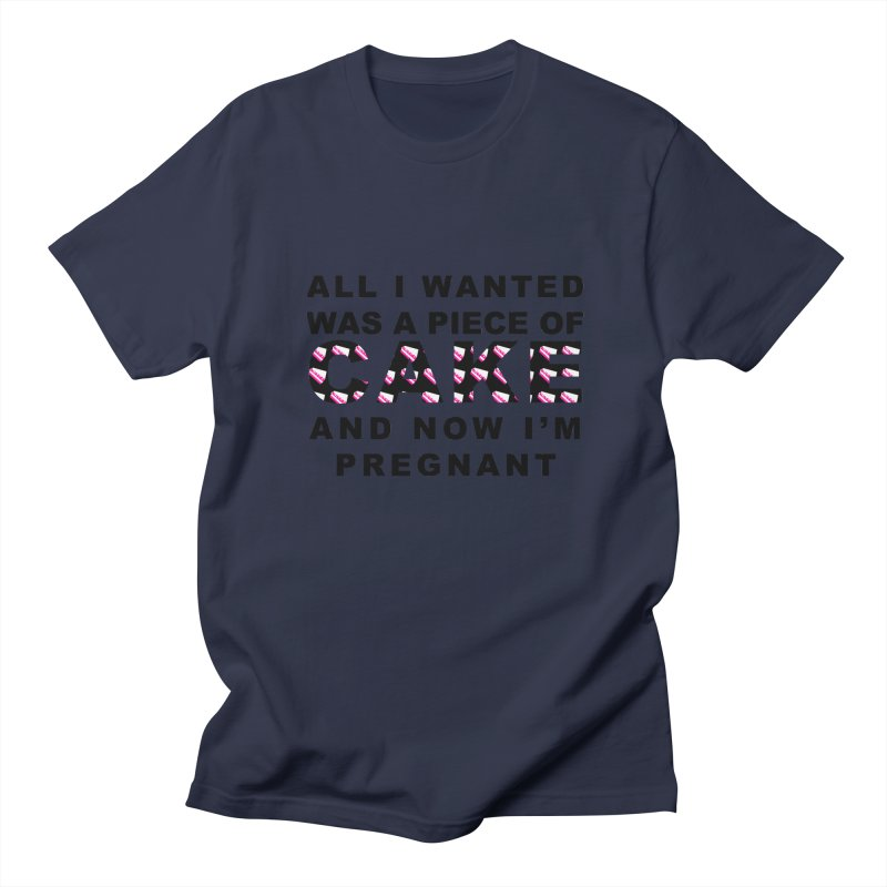 ...NOW I'M PREGNANT (Blk) Women's Unisex T-Shirt by More Cake?