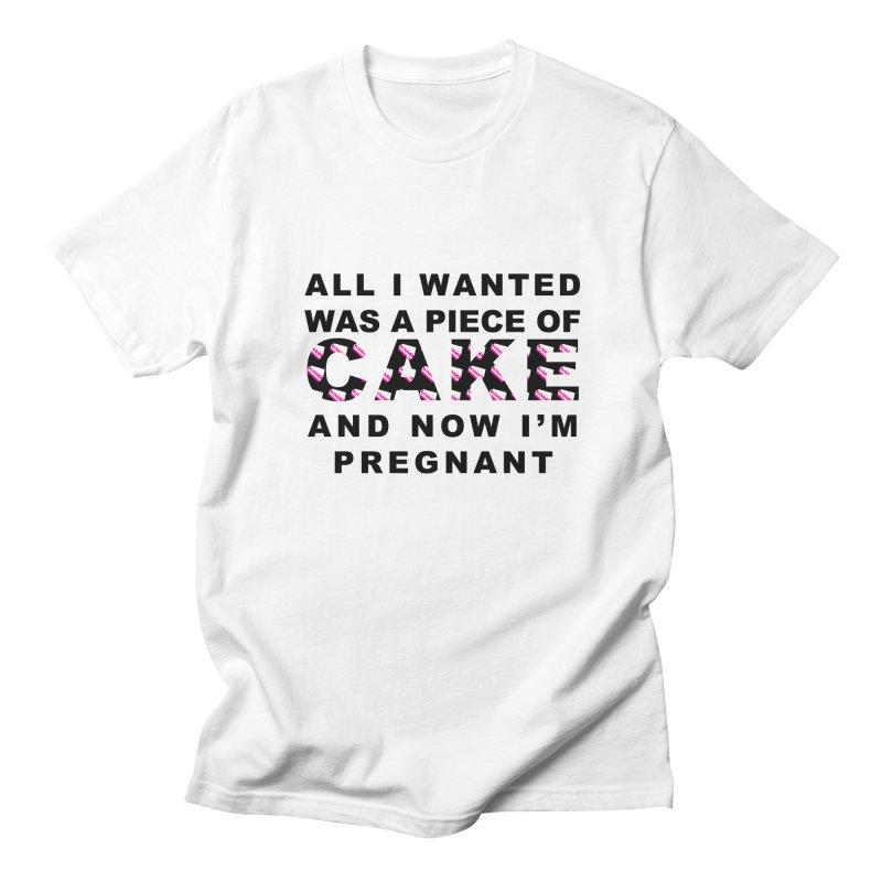 ...NOW I'M PREGNANT (Blk) Women's Regular Unisex T-Shirt by More Cake?
