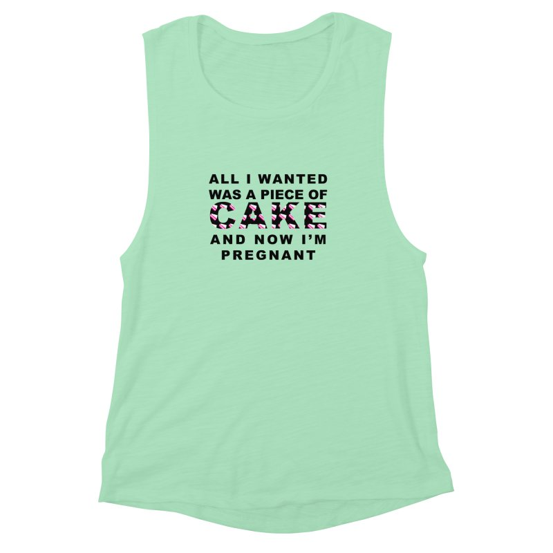 ...NOW I'M PREGNANT (Blk) Women's  by More Cake?