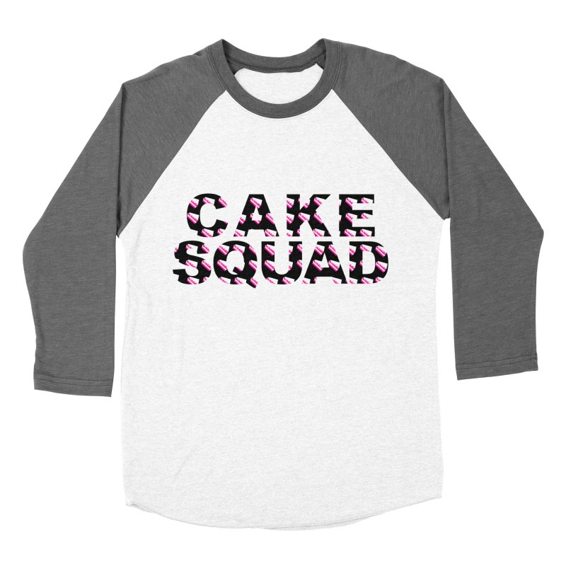 CAKE SQUAD Women's Baseball Triblend T-Shirt by More Cake?