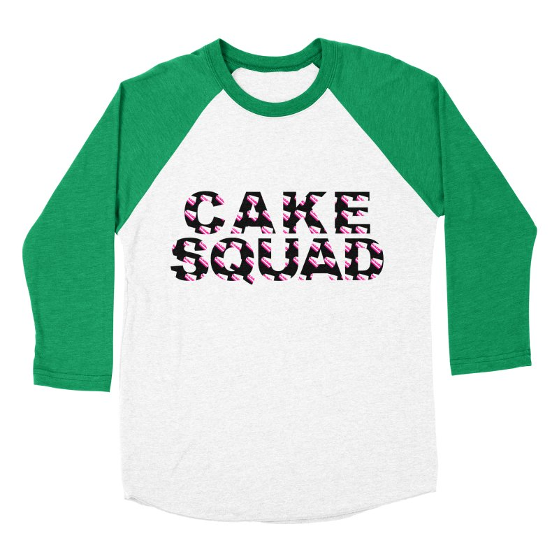 CAKE SQUAD Men's Baseball Triblend T-Shirt by More Cake?