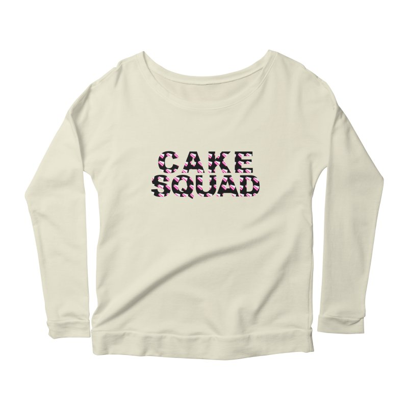 CAKE SQUAD Women's Scoop Neck Longsleeve T-Shirt by More Cake?