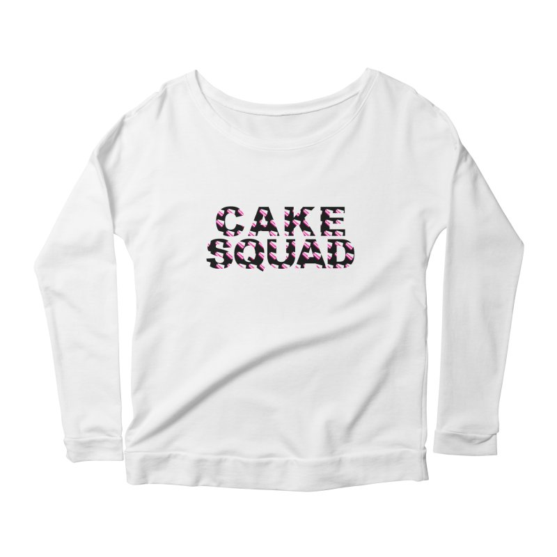 CAKE SQUAD Women's Longsleeve Scoopneck  by More Cake?
