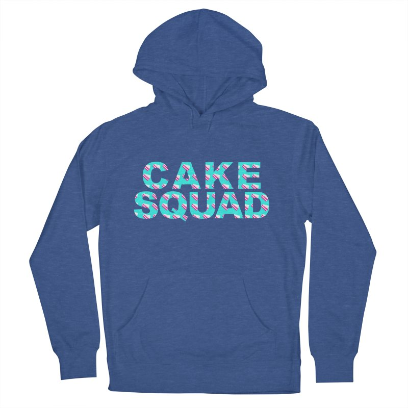 CAKE SQUAD (baby blue) Men's French Terry Pullover Hoody by More Cake?