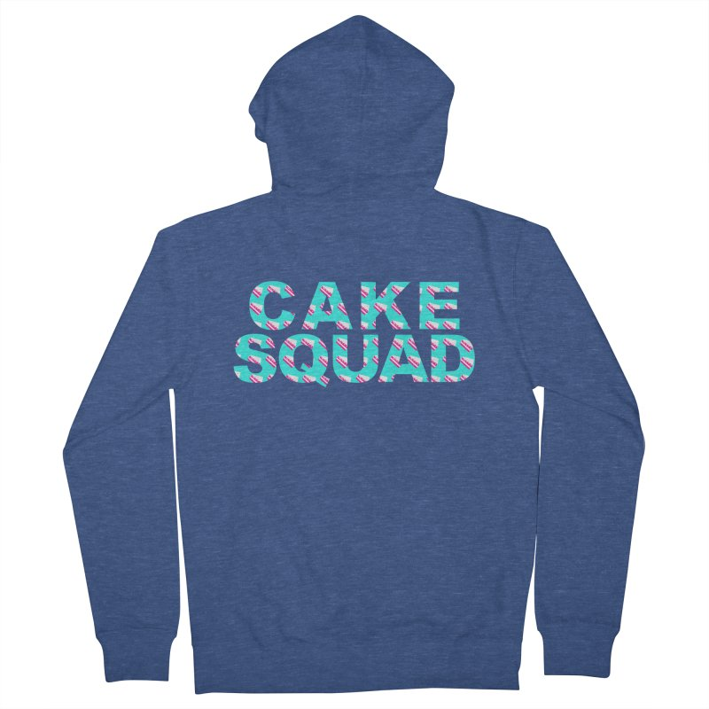 CAKE SQUAD (baby blue) Men's Zip-Up Hoody by More Cake?