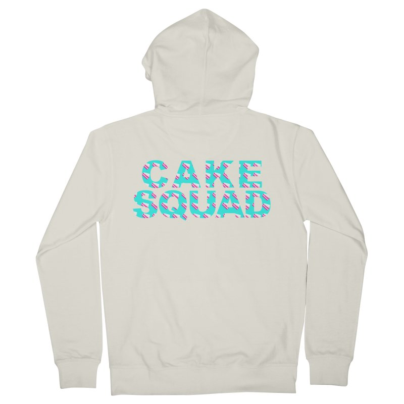 CAKE SQUAD (baby blue) Men's French Terry Zip-Up Hoody by More Cake?