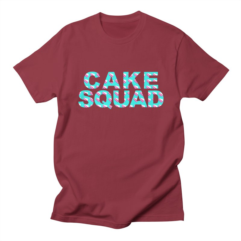 CAKE SQUAD (baby blue) Men's T-Shirt by More Cake?
