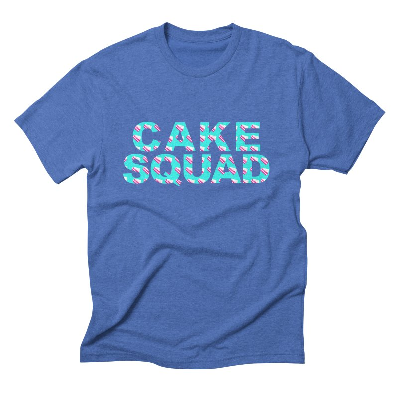 CAKE SQUAD (baby blue) Men's Triblend T-Shirt by More Cake?