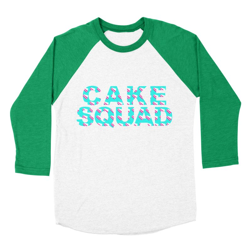 CAKE SQUAD (baby blue) Women's Baseball Triblend Longsleeve T-Shirt by More Cake?
