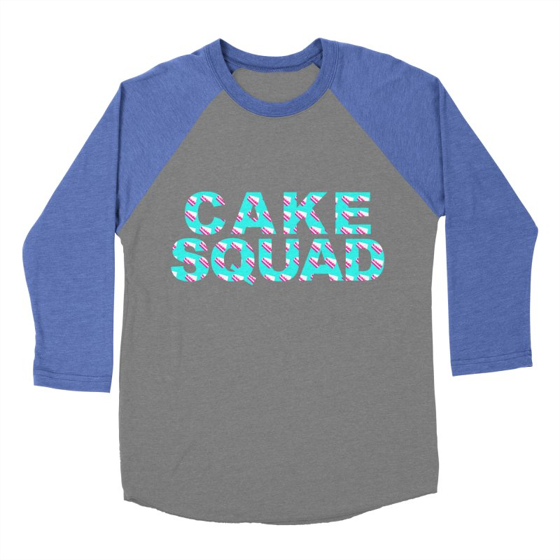 CAKE SQUAD (baby blue) Women's Baseball Triblend Longsleeve T-Shirt by More Cake?