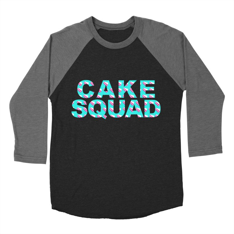 CAKE SQUAD (baby blue) Men's Baseball Triblend Longsleeve T-Shirt by More Cake?