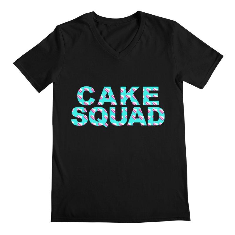 CAKE SQUAD (baby blue) Men's Regular V-Neck by More Cake?