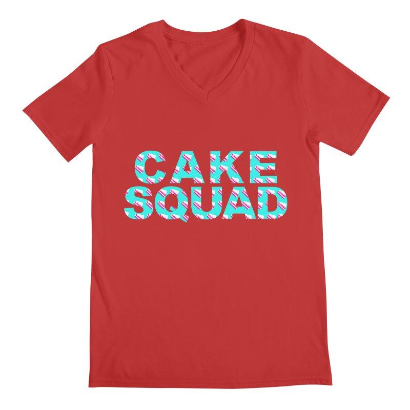 CAKE SQUAD (baby blue) Men's V-Neck by More Cake?