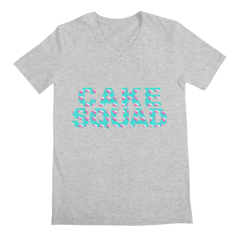 CAKE SQUAD (baby blue) Men's Regular V-Neck by More Cake?
