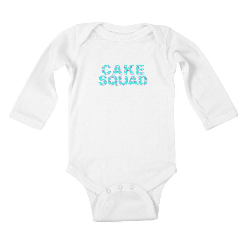 CAKE SQUAD (baby blue) Kids Baby Longsleeve Bodysuit by More Cake?
