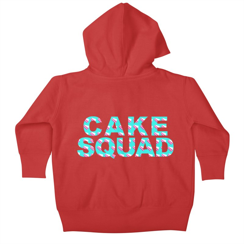 CAKE SQUAD (baby blue) Kids Baby Zip-Up Hoody by More Cake?
