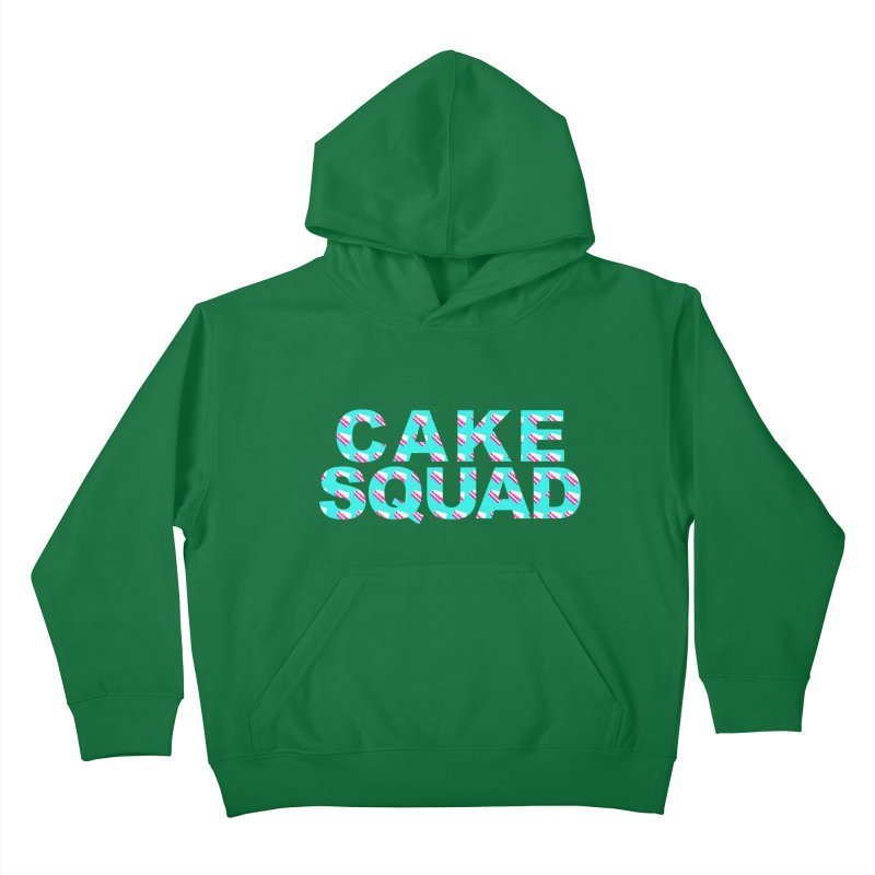 CAKE SQUAD (baby blue) Kids Pullover Hoody by More Cake?
