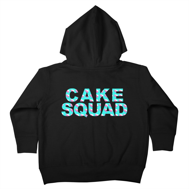 CAKE SQUAD (baby blue) Kids Toddler Zip-Up Hoody by More Cake?