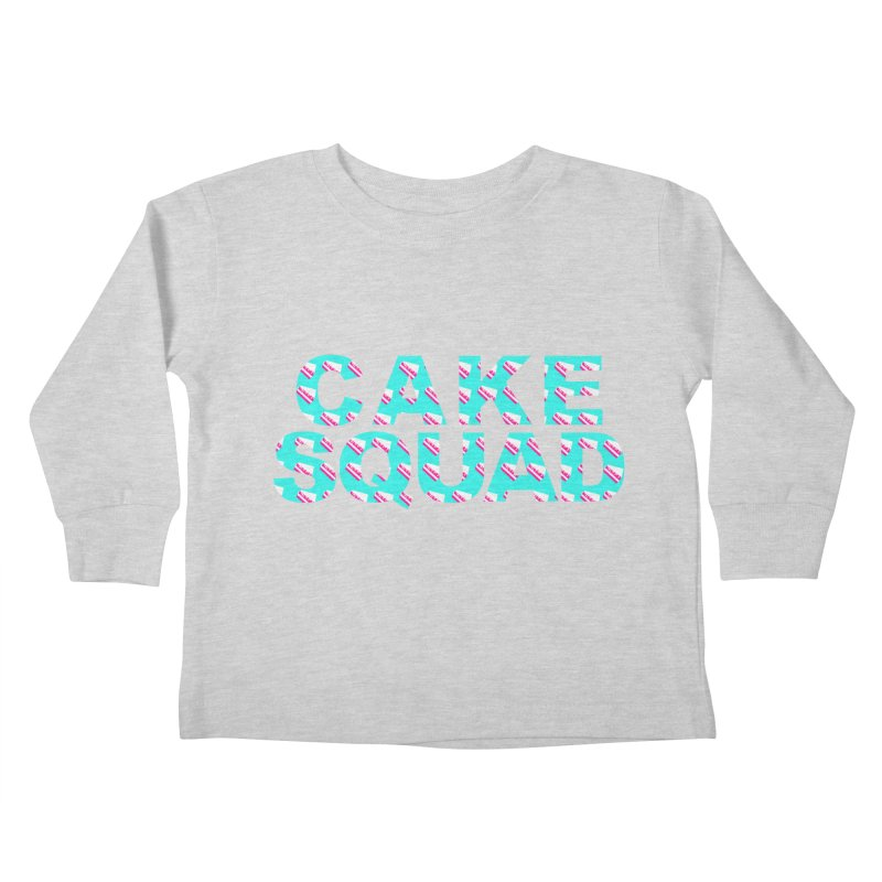 CAKE SQUAD (baby blue) Kids Toddler Longsleeve T-Shirt by More Cake?