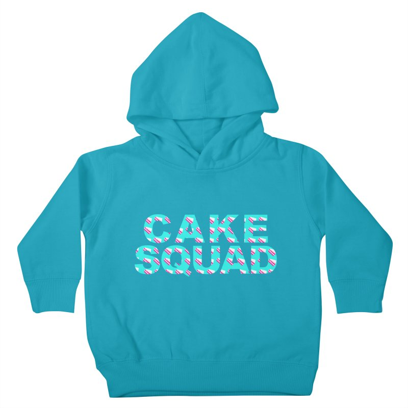 CAKE SQUAD (baby blue) Kids Toddler Pullover Hoody by More Cake?