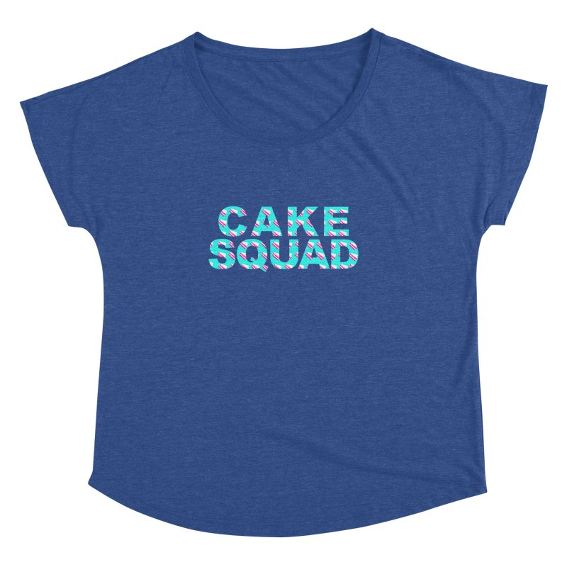 CAKE SQUAD (baby blue) Women's Dolman Scoop Neck by More Cake?