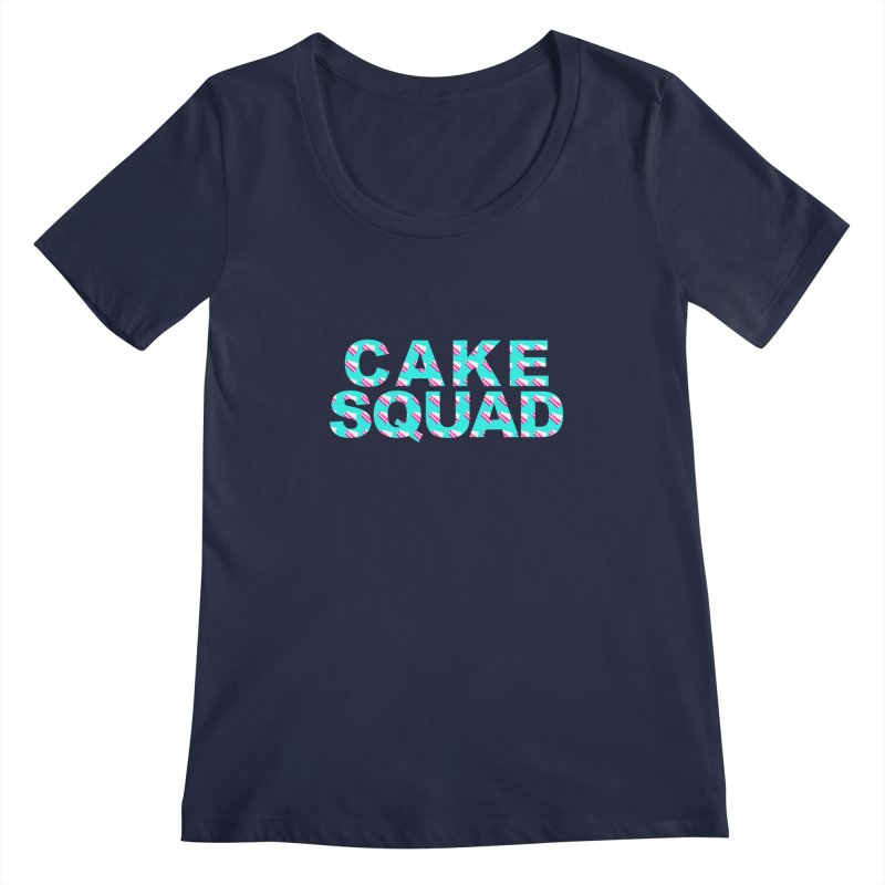 CAKE SQUAD (baby blue) Women's Regular Scoop Neck by More Cake?