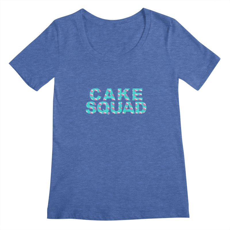 CAKE SQUAD (baby blue) Women's Scoopneck by More Cake?