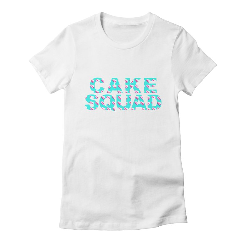 CAKE SQUAD (baby blue) Women's Fitted T-Shirt by More Cake?