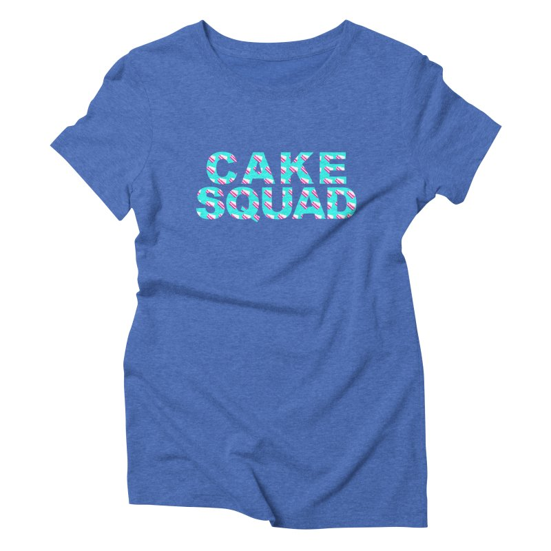 CAKE SQUAD (baby blue) Women's Triblend T-Shirt by More Cake?