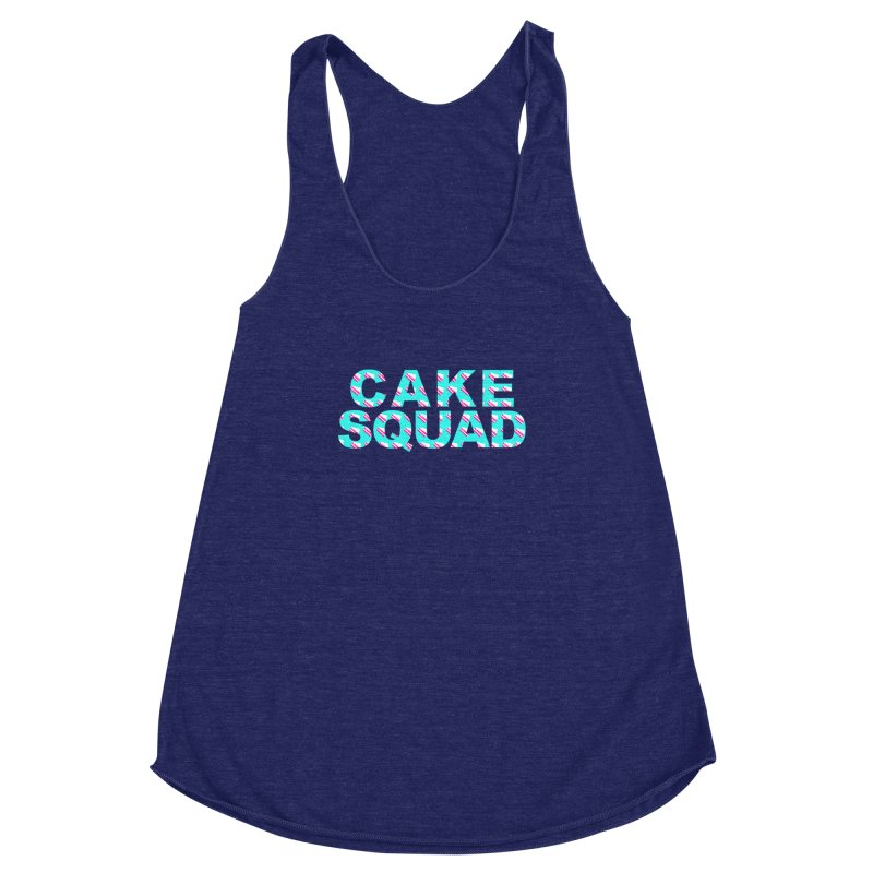 CAKE SQUAD (baby blue) Women's Racerback Triblend Tank by More Cake?