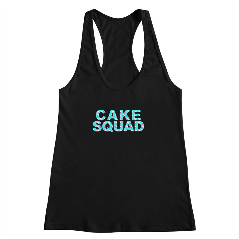 CAKE SQUAD (baby blue) Women's Racerback Tank by More Cake?