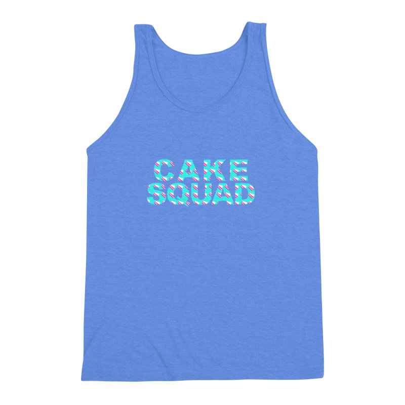 CAKE SQUAD (baby blue) Men's Triblend Tank by More Cake?