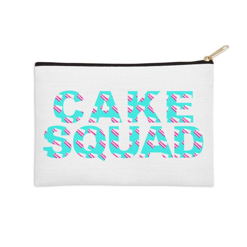 CAKE SQUAD (baby blue) Accessories Zip Pouch by More Cake?