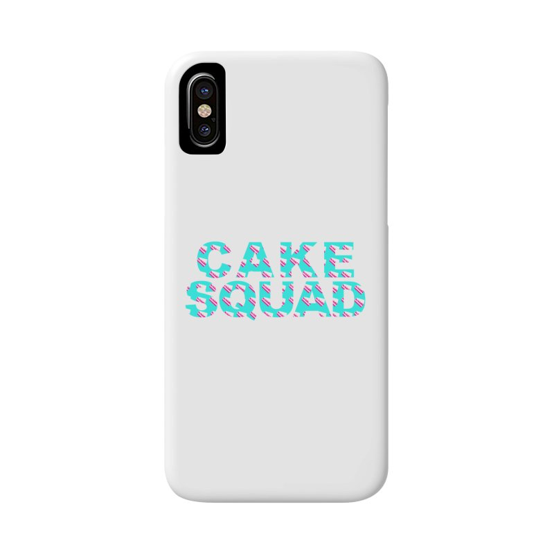 CAKE SQUAD (baby blue) Accessories Phone Case by More Cake?