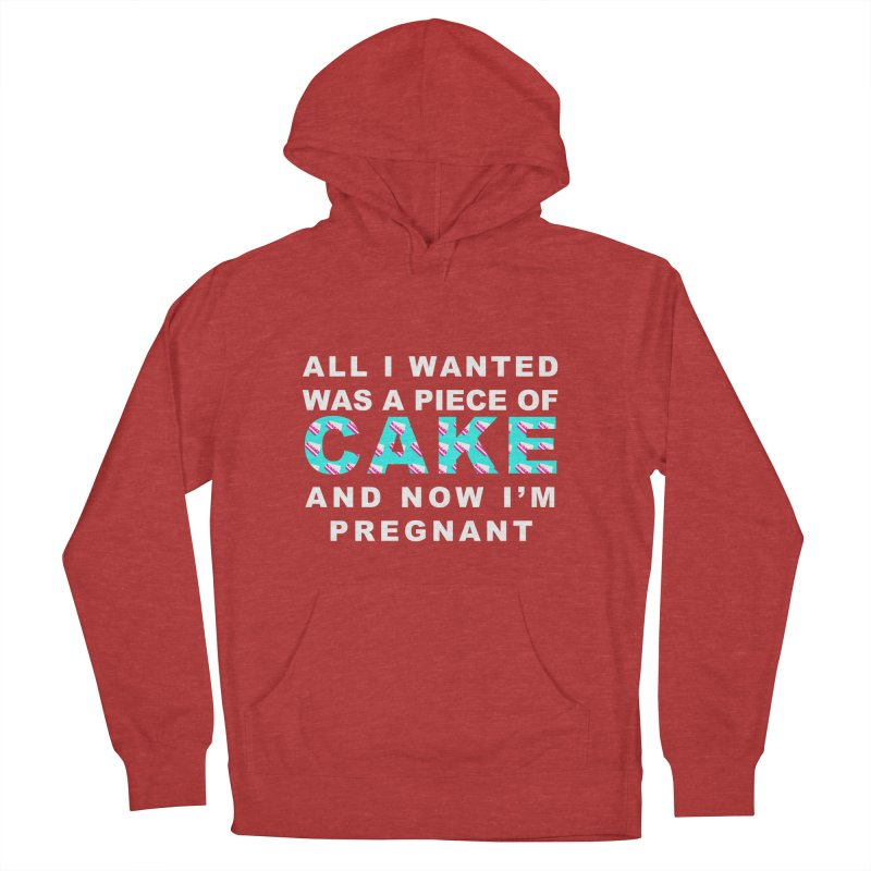 ...NOW I'M PREGNANT (baby blue) Women's French Terry Pullover Hoody by More Cake?