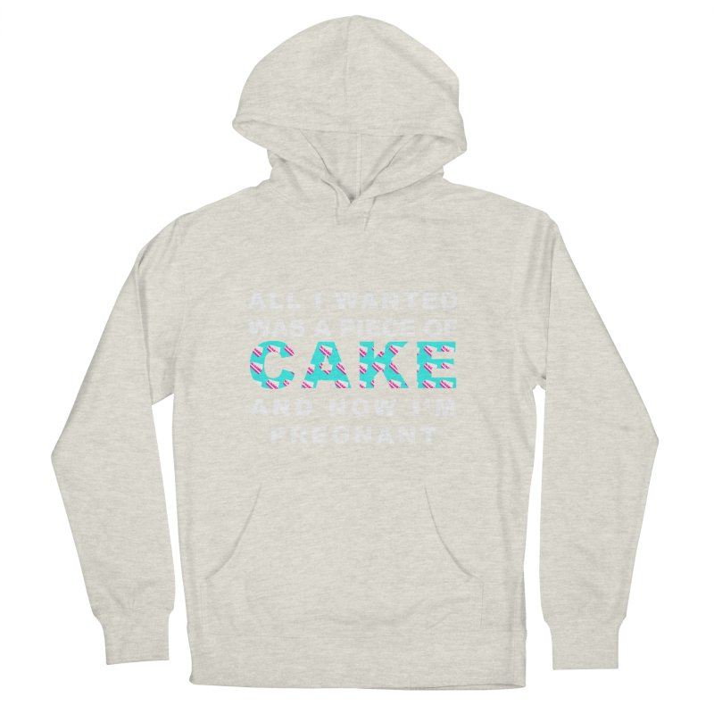 ...NOW I'M PREGNANT (baby blue) Women's Pullover Hoody by More Cake?
