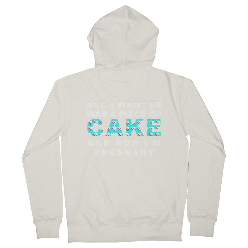 ...NOW I'M PREGNANT (baby blue) Women's Zip-Up Hoody by More Cake?