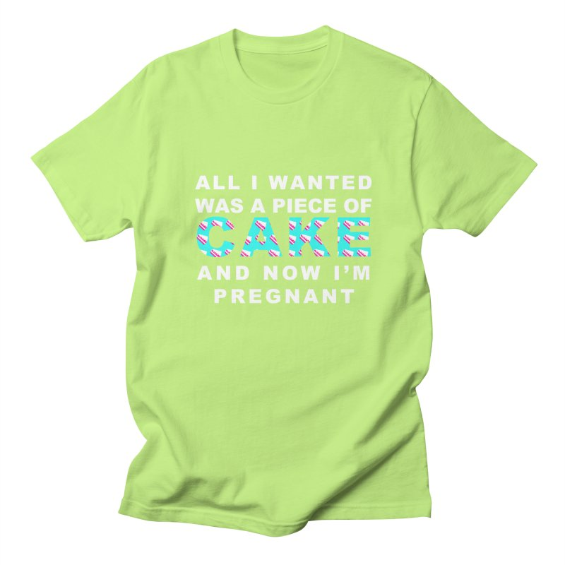 ...NOW I'M PREGNANT (baby blue) Women's Regular Unisex T-Shirt by More Cake?