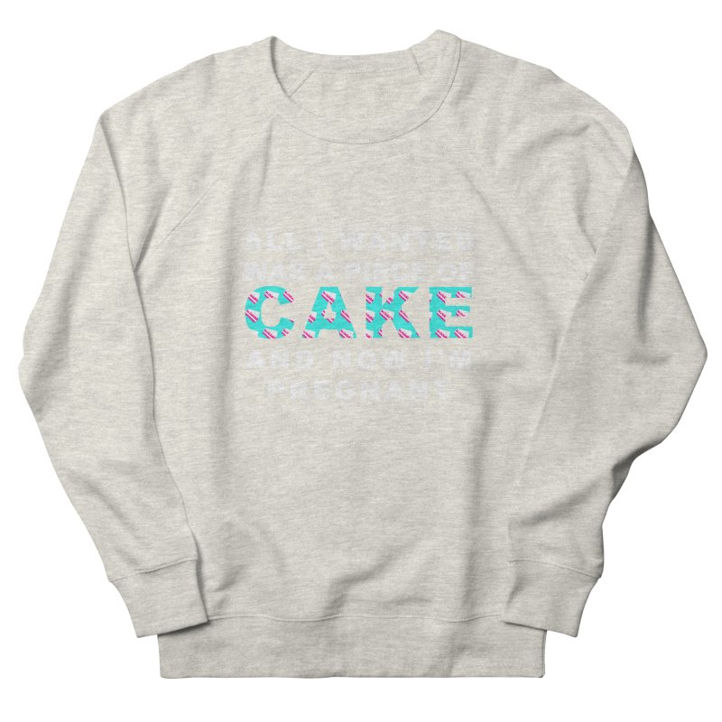 ...NOW I'M PREGNANT (baby blue) Women's Sweatshirt by More Cake?